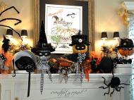 Serendipity Refined Blog Halloween Mantel