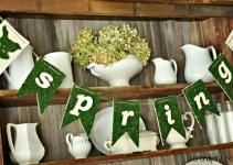Serendipity Refined Blog Moss Burlap Spring Banner