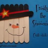 Serving Pink Lemonade Snowmen Craft Stick Style