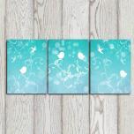 Set Bird Art Prints Turquoise Wall Decor Bedroom