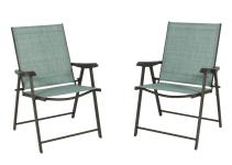 Set Folding Chairs Sling Bistro Outdoor Patio