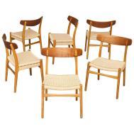 Set Six Chairs Hans Wegner Carl Hansen