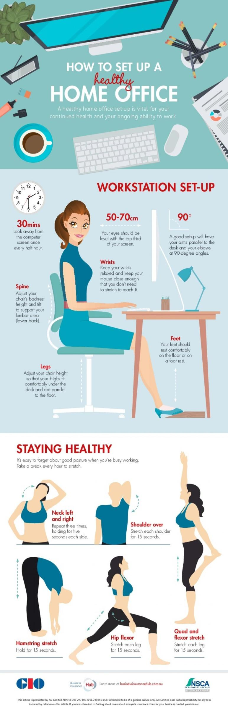 Setup Healthy Home Office Visual