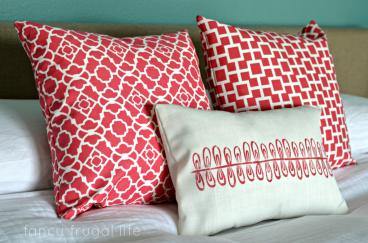 Sewed These Three Throw Pillows Including Cute