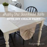 Shabby Chic Farmhouse Table Diy Chalk Paint