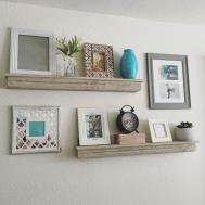 Shelf Decorating Ideas Living Room Under Wall Mounted