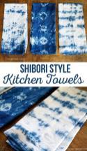 Shibori Dyeing Kitchen Towels