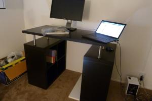 Short Blue Sky Diy Standing Desk Parts