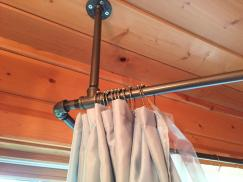 Shower Curtain Rods Hang Ceiling