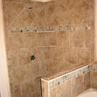 Shower Tile Top Master Bath Makeover