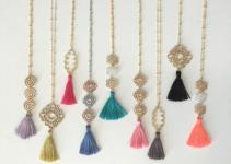 Silk Tassel Necklace Long Colorful