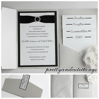 Silver Shimmer Pocketfolds Wedding Invitations Diy Cards