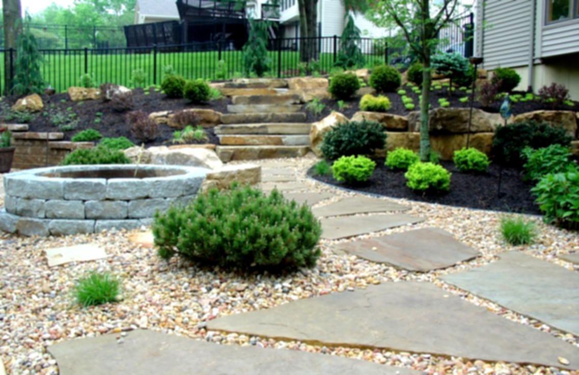 Simple Backyard Landscaping Ideas Stone Landscape Design Decoratorist 15884