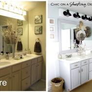 Simple Bathroom Makeover Ideas Vintage Guest Bath Home