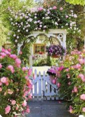 Simple Beautiful Country Garden Decor Ideas