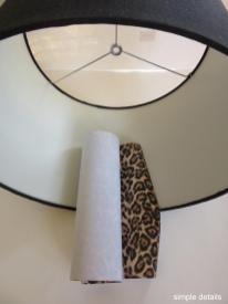 Simple Details Diy Lamp Shade Leopard Print Lining