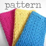 Simple Dishcloth Crochet Pattern Purplekissco Craftsy