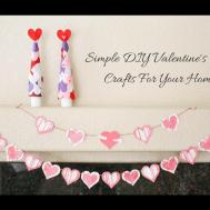Simple Diy Valentine Day Crafts Your Home