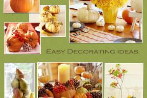 Simple Thanksgiving Table Decoration Photograph Birthday
