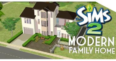 Sims Speed Build Modern Family Home