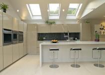 Skylights Kitchen Extensions White Dining Rooms
