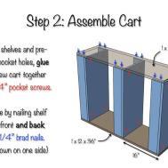 Slim Rolling Laundry Room Storage Cart Diy Plan