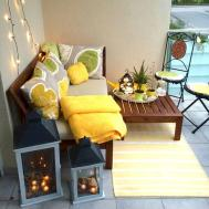 Small Apartment Balcony Furniture Decor Ideas