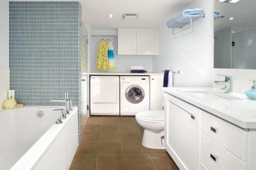 Small Bathroom Laundry Room Combo Interior Layout