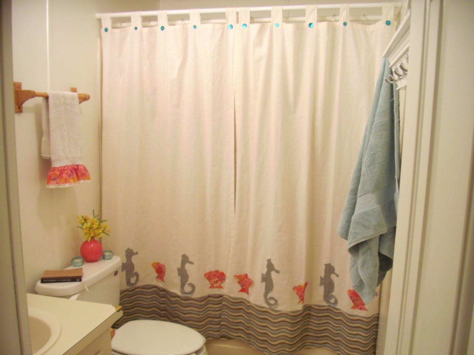 small bathroom shower curtain ideas