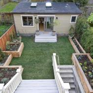 Small Homes Plants Yard Made Wood Cement