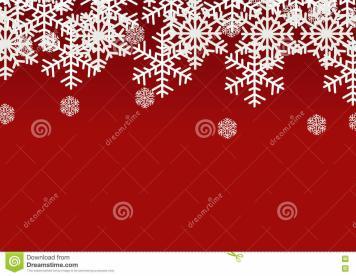 Snow Flake Red Christmas Season Holiday