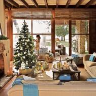 Spanish Country House Adorned Natural Christmas