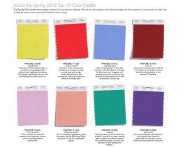 Spring 2018 Color Palette Top Colors Bay