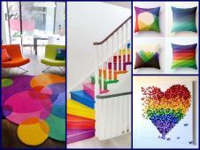 Spring Decor Ideas Rainbow Home Decorating