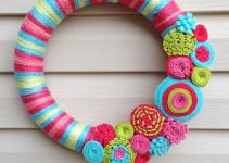 Spring Wreath Easter Yarn