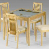 Square Glass Dining Table Wood Temasistemi