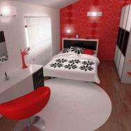 Striking Red Black White Bedroom Ideas