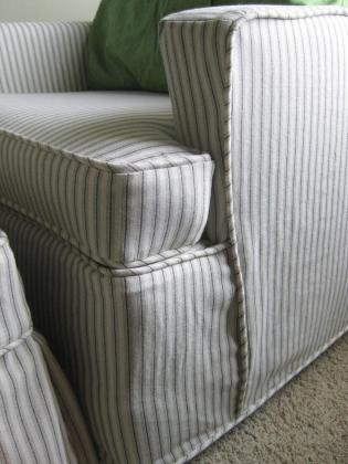 Striped Slipcovers Sofas Sofa