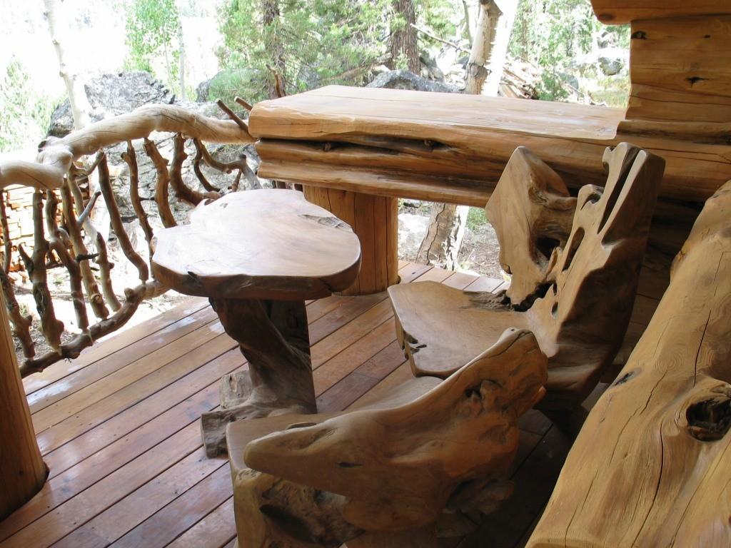 stunning rustic wood outdoor furniture