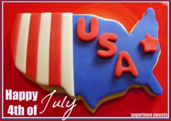 Sugartown Sweets Happy 4th July Cookies