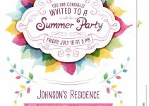 Summer Party Invitation Stock Vector Illustration