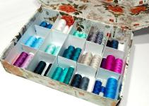Super Easy Storage Box Make Thread Organizer