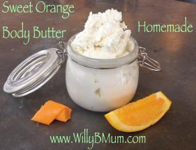Sweet Orange Homemade Whipped Body Butter