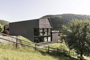 Swiss Delight Modern Single Family House Concrete Wood