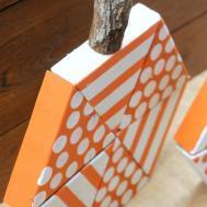 Tattered Inked Diy Triangle Block Wooden Pumpkins