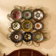 Teal Woman Ceramic Decorative Plate Set
