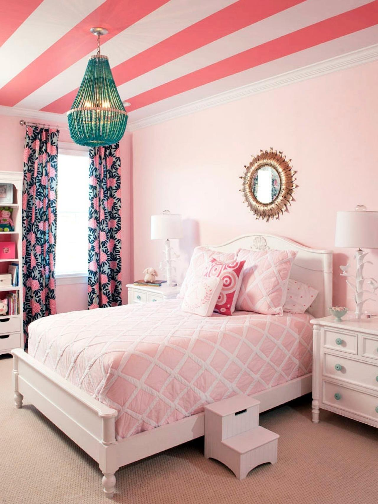 Teens Room Decorating Ideas Cute White Pink Girly Bedroom Decoratorist 49819
