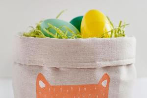 Tell Easy Fabric Easter Basket Love Party