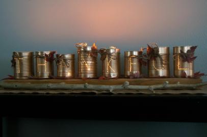 Thankful Tin Can Luminaries Dwelling Happiness