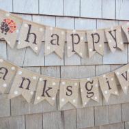 Thanksgiving Decor Banner Happy